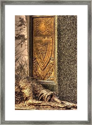 The Irish Brigade At Gettysburg  63rd-69th-88th New York Infantry St. Patricks Day 2012 Close-c Framed Print by Michael Mazaika