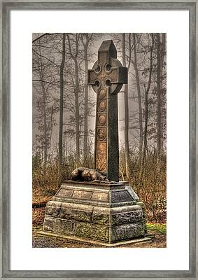 The Irish Brigade At Gettysburg  63rd-69th-88th New York Infantry St. Patricks Day 2012 Framed Print
