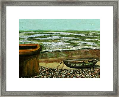 Framed Print featuring the painting The Irish Darling by Rita Brown
