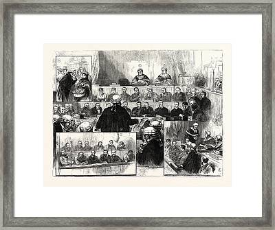 The Irish Land League Trials At Dublin 1 Framed Print