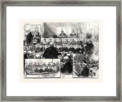 The Irish Land League Trials At Dublin 1 Framed Print by Irish School