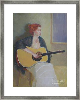 The Irish Singer    Copyrighted Framed Print by Kathleen Hoekstra