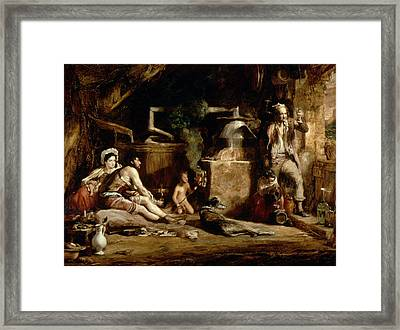 The Irish Whiskey Still, 1840 Oil On Panel Framed Print by Sir David Wilkie