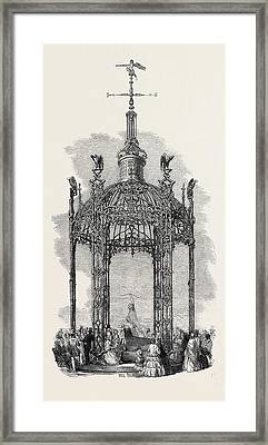 The Iron Dome Exhibited By The Coalbrookdale Company Framed Print by English School