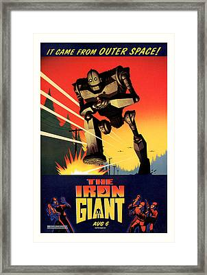 The Iron Giant 1999 Framed Print by Presented By American Classic Art