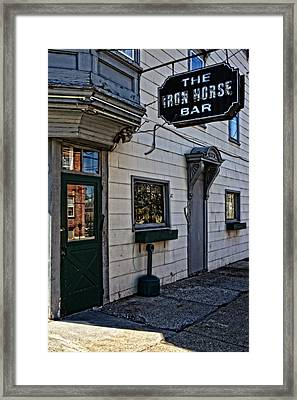 The Iron Horse Bar Framed Print by Mike Martin