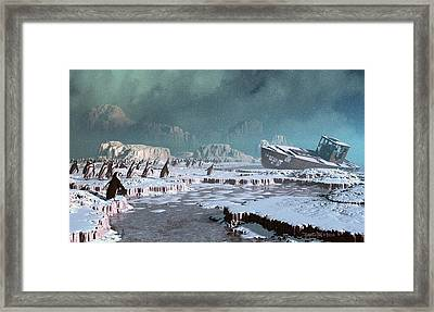 The Iron Whale Framed Print by Dieter Carlton