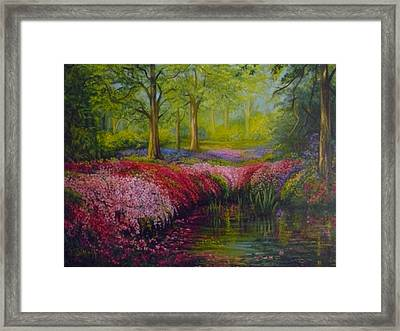 The Isabella Plantation Framed Print by Janet Silkoff