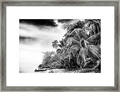 The Island In Black And White Framed Print