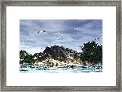 The Island Framed Print by Jacqueline Lloyd
