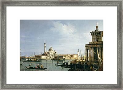 The Island Of San Giorgio Maggiore Framed Print by Canaletto