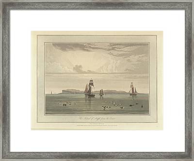 The Island Of Staffa From The East Framed Print by British Library