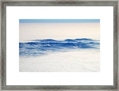 The Sea Of Clouds Framed Print