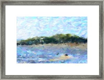 The Island Framed Print by Tommytechno Sweden