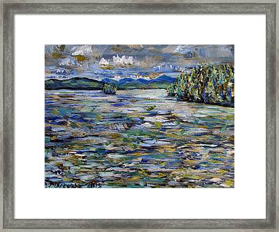 The Islands Off Canaras Framed Print