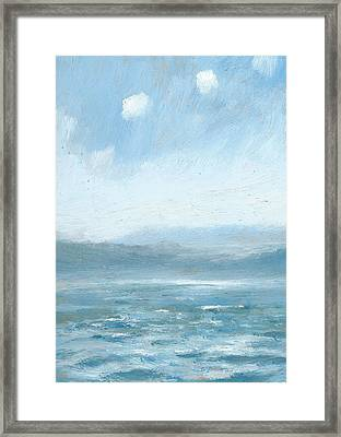The Isle Of Wight From Portsmouth Part Eight Framed Print by Alan Daysh