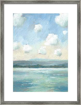 The Isle Of Wight From Portsmouth Part Nine Framed Print by Alan Daysh