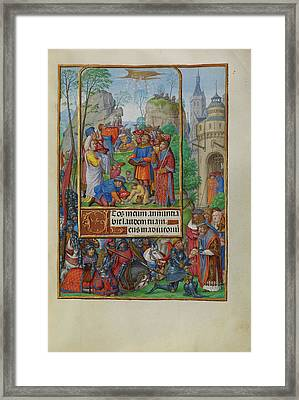 The Israelites Collecting Manna From Heaven Master Of James Framed Print