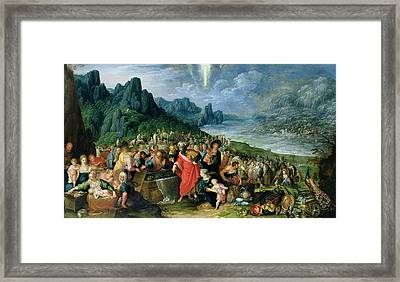 The Israelites On The Bank Of The Red Sea, 1621 Oil On Canvas Framed Print