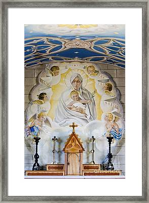 The Italian Chapel Mural Lamb Holm Orkney  Framed Print by Tim Gainey