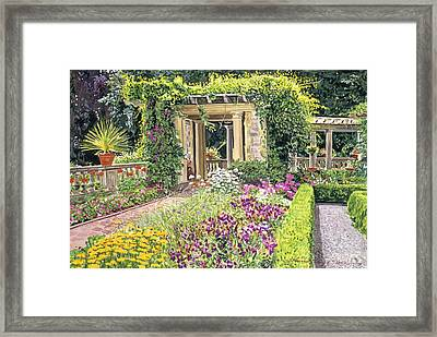 The Italian Gardens Hatley Park Framed Print by David Lloyd Glover
