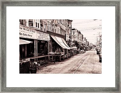 The Italian Market In Philadelphia Framed Print