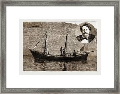 The Italian Miniature Schooner Leone Di Caprera Framed Print