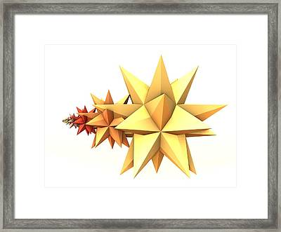 The Iterated Star Of Bethlehem Framed Print by M Rao