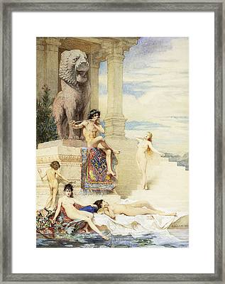 The Ivory Flute Framed Print by Guillaume Dubufe