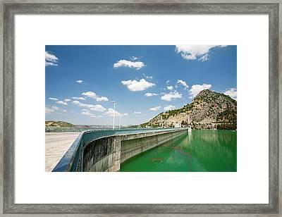 The Iznajar Reservoir Framed Print