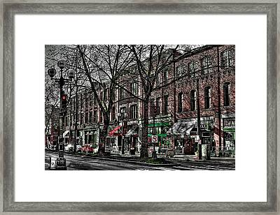 The J And M Hotel In Pioneer Square - Seattle Washington Framed Print