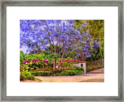 Framed Print featuring the painting The Jacaranda by Michael Pickett