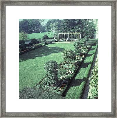 The Jacqueline Kennedy Garden At The White House Framed Print by Horst P. Horst