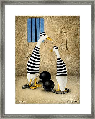 The Jailbirds... Framed Print by Will Bullas