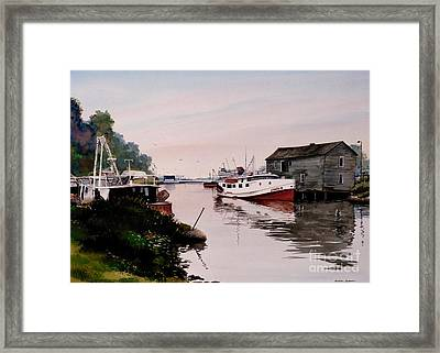 The James B Framed Print by Michael Swanson