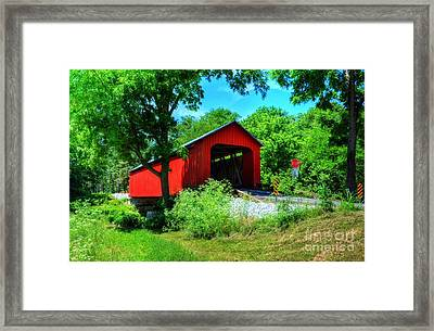 The James Covered Bridge Framed Print by Mel Steinhauer