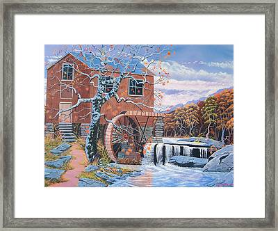 The Jamestown Mill Framed Print by Seth Wade