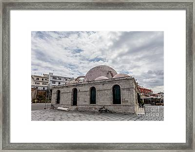 The Janissaries Mosque In Chanias Old Town Crete Framed Print by Frank Bach