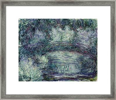 The Japanese Bridge, 1918-19 Oil On Canvas See Detail 382336 Framed Print