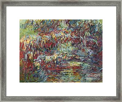 The Japanese Bridge At Giverny Framed Print