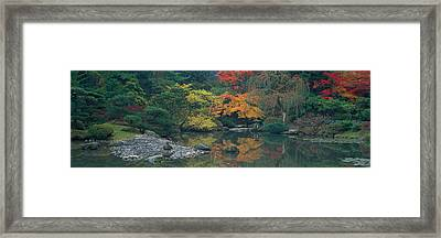 The Japanese Garden Seattle Wa Usa Framed Print by Panoramic Images