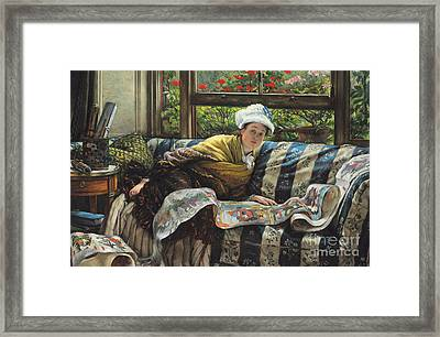 The Japanese Scroll Framed Print by Tissot