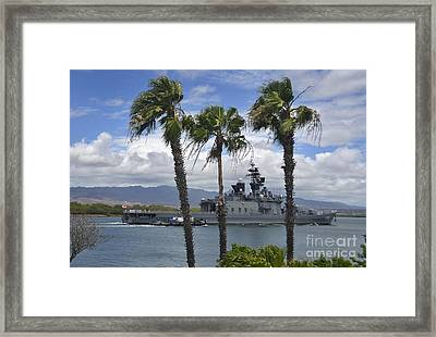 The Japanese Self Defense Force Ship Js Framed Print