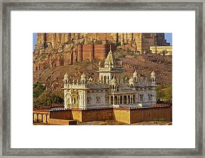 The Jaswant Thada Mausoleum Framed Print