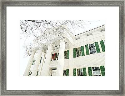The Jay House At Christmas Framed Print by Diana Angstadt