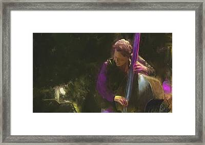 The Jazz Bassist Framed Print