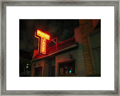 The Jazz Estate Framed Print