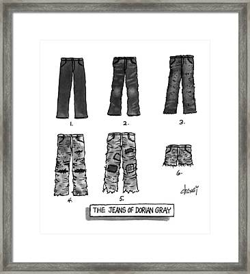 The Jeans Of Dorian Gray Framed Print by Tom Cheney