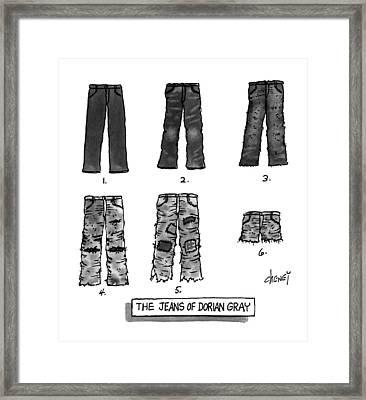 The Jeans Of Dorian Gray Framed Print
