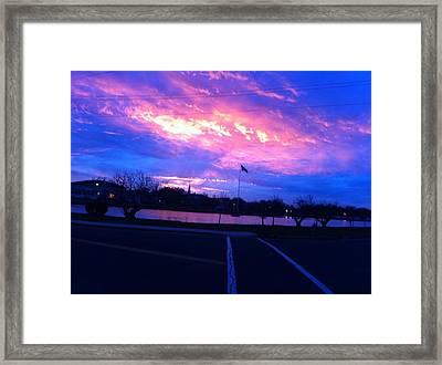 The Jersey Shore- Bradley Beach Sunset Framed Print by Martin Fried MD
